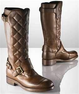 New Men's Motorcycle Boots Design by Ralph Lauren