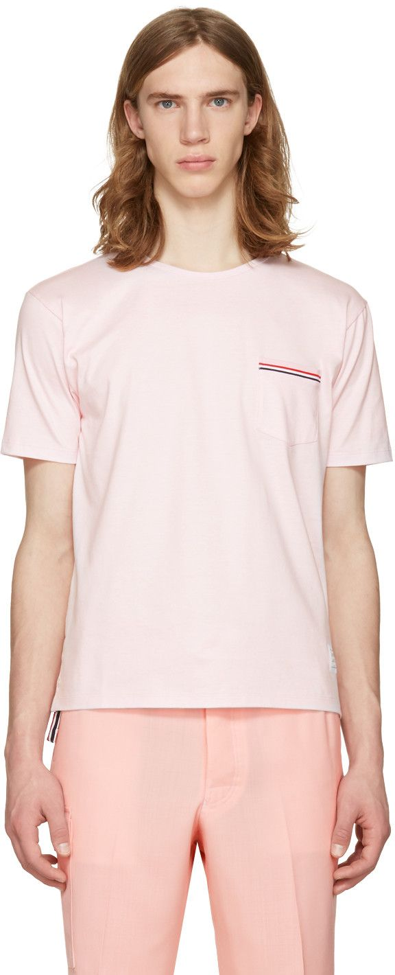 Thom Browne - Pink Pocket T-Shirt