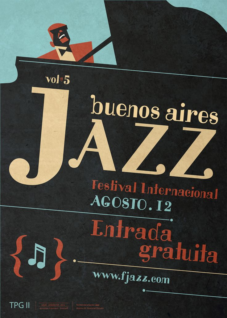 Jim Flora, Buenos Aires jazz Festival Poster