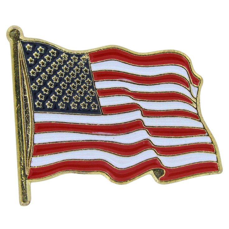 USA Lapel Pin Standard Flag Lapel Pin American Flag Gold Metal Enamel Finish 1pk #USFlagStore