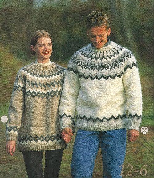 Icelandic Wool Sweater Pattern 12-6 Male - Icelandic Wool Sweater Pattern - Shop…