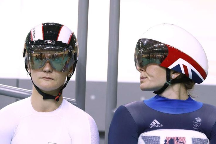 Olympic rivals question Britain's mystery cycling advantage:  August 16, 2016  -      Germany's Kristina Vogel (L) and Britain's Rebecca James wait to compete in the sprint finals track cycling event at the Velodrome during the Rio 2016 Olympic Games
