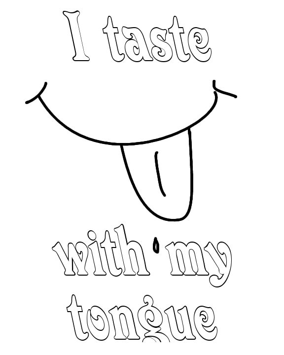 Sense Of Taste Coloring Page Preschool Letter Crafts Letter A Crafts Coloring Pages For Teenagers