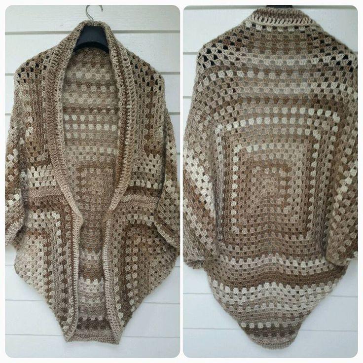 crochet en español chaqueta  granny square principiantes