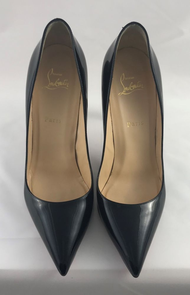 1ea9ec009cd Christian Louboutin Pigalle 100 Patent Pumps, Size 42.5, Like New ...