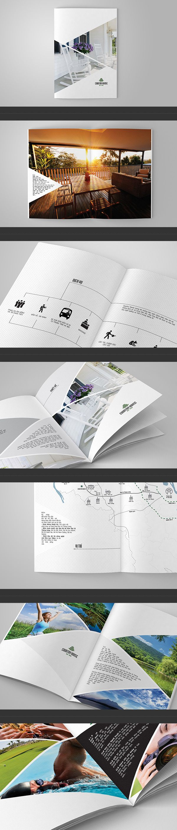 Country House - Real Estate Brochure by G12 Media, via Behance
