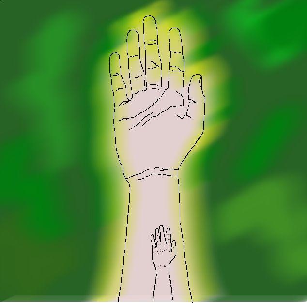 зеленый, рука