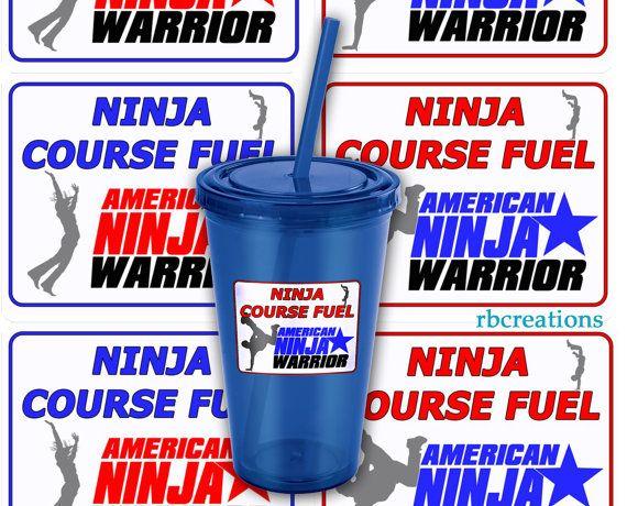 American Ninja Warrior Party, American Ninja Warrior Stickers, ANW Birthday Party, Ninja Warrior Stickers - Customize digital printables