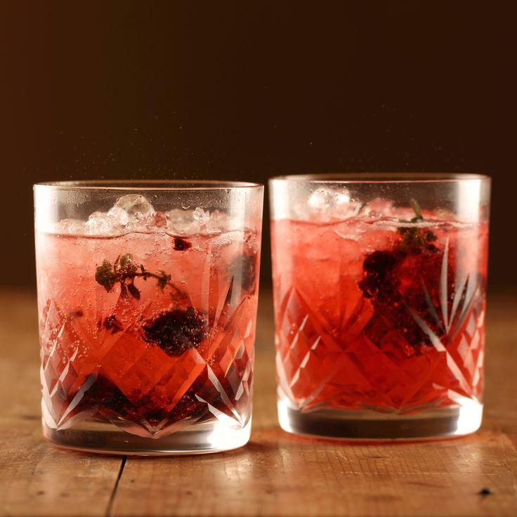 Sparkling Ruby Cabernet Mocktail with Smashed Blackberries and Lemon Thyme - Maggie Beer