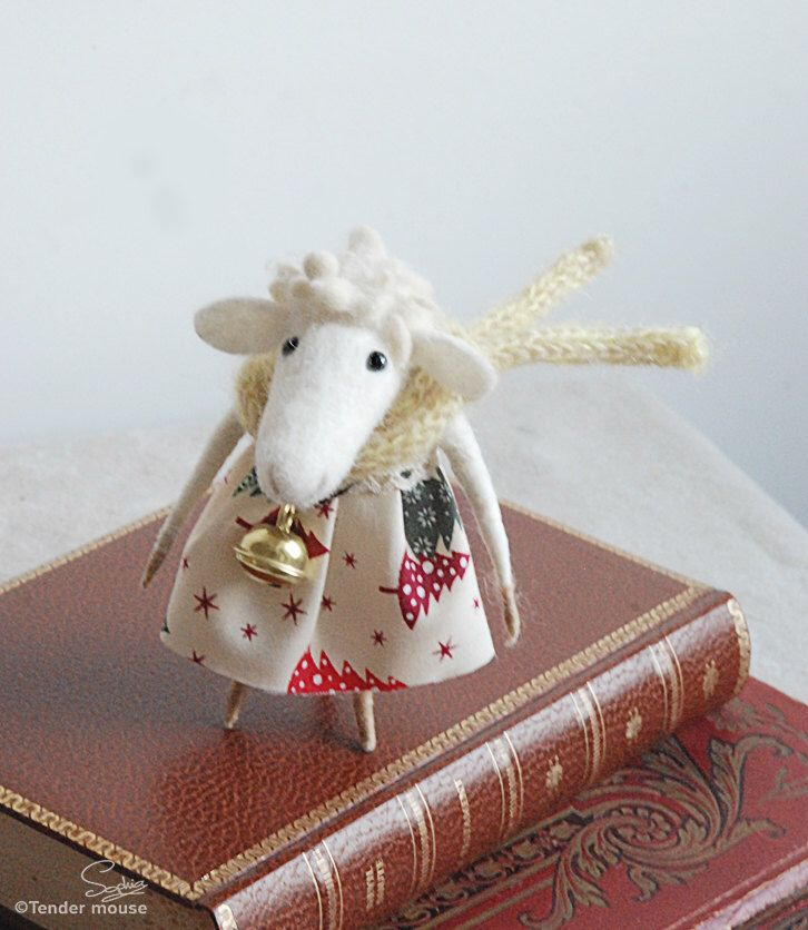 726 best images about sheep on pinterest wool baa baa for Sheep christmas ornament craft
