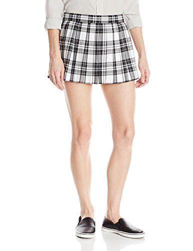 cool   Tripp NYC Juniors' Pleated School Girl Mini Skirt, White/Black Plaid, Medium #fashion #beauty #lifestyle #vintage #beverage #vintagedress #hair #nails