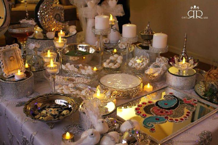 ميز المهر Iraqi wedding table,  Iraqi tradition