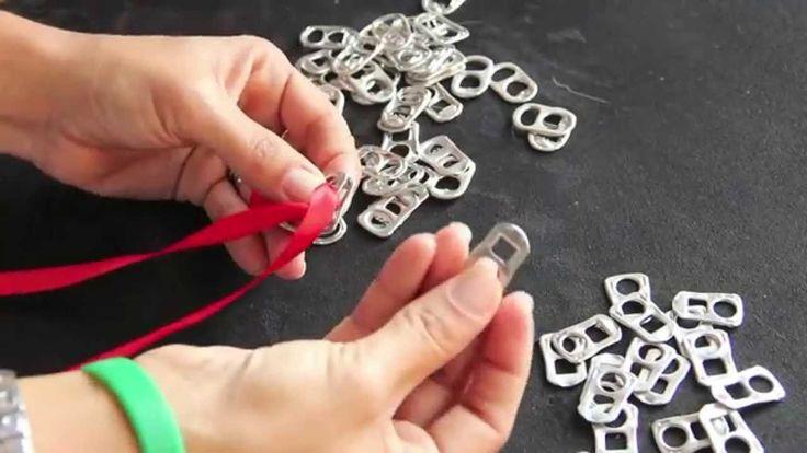 DIY creare un braccialetto con linguette delle lattine :-)