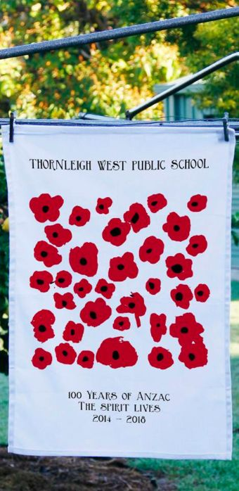 A day of remembrance and thanks  for all who have served for our country and for our lives we are able to live today. #lestweforget #anzacday #anzacs #australia #wewillrememberthem  Image of Thornleigh West Public School ANZAC tea towel.
