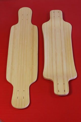 """We recently brought in a shipment of 1/16"""" solid Bamboo veneer. Unlike many readily available Bamboo products, this is a veneer product as opposed to a plywood-..."""