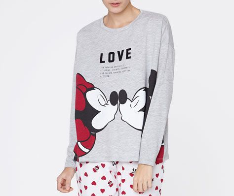 T-shirt Mickey&Minnie Love - OYSHO (15,99€)