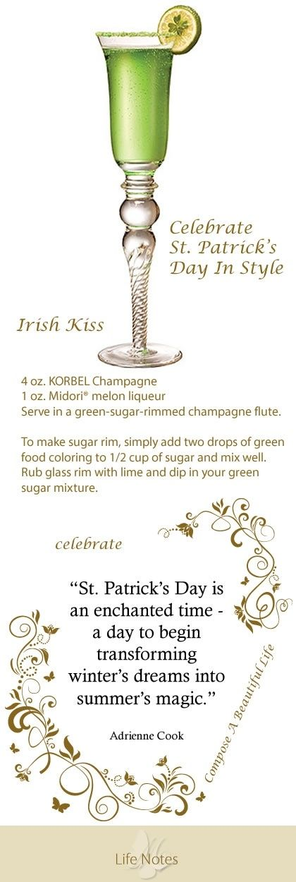 Celebrate St. Patrick's Day with an Irish Kiss green