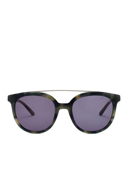 Image of B Brian Atwood Women's Acetate Round With Metal Top Sunglasses