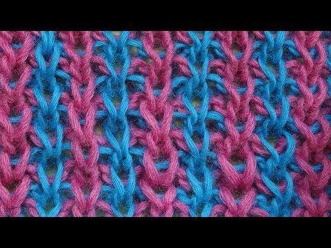 Вертикальные полосочки Узор вязания спицами Knitting pattern 13 - YouTube