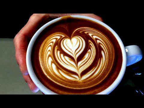 LATTE ART TUTORIAL 2014 | HOW TO DO EASY COFFEE ART ( BLACK & WHITE HEART ) ラテアート - YouTube