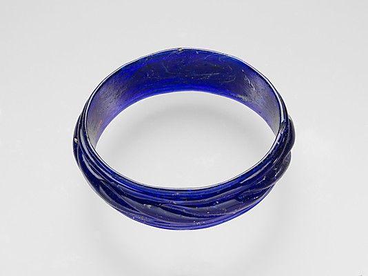 Glass bracelet, Date: ca. 3rd–5th century A.D., Rome
