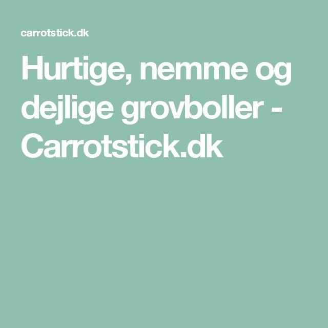 Hurtige, nemme og dejlige grovboller - Carrotstick.dk
