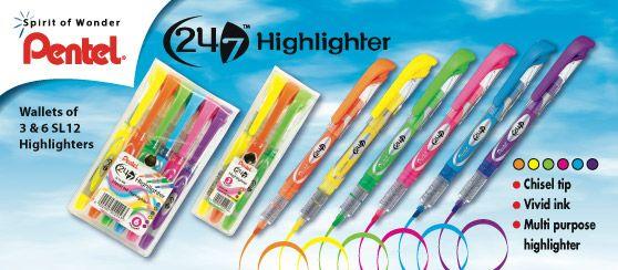 Pentel 24/7 Highlighters