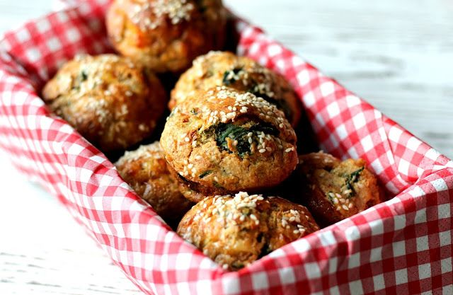 Sýrovo-špenátové muffiny