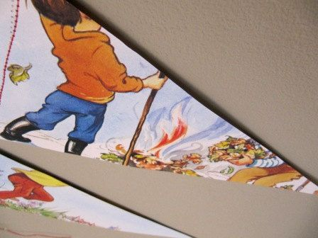Recycled Vintage Enid Blyton Bunting/Garland  by ReFabricates, £7.00