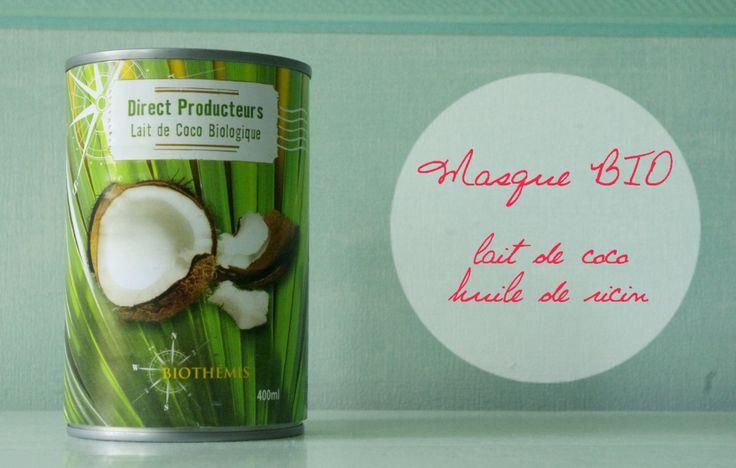 Masque lait de coco huile de ricin pour la pousse des cheveux