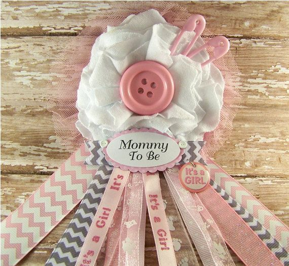 Cute as a Button Mommy To Be Corsage Baby Shower by BloomingParty