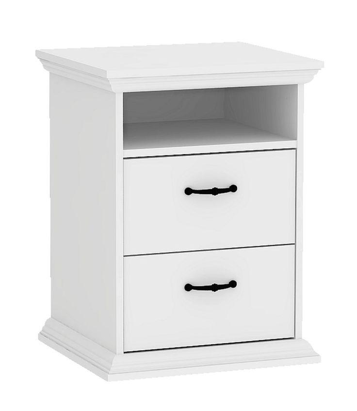 Yöpöytä VIBORG 2 laatikkoa valkoinen | JYSK