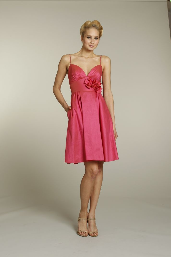 Girly pink bridesmaid dress