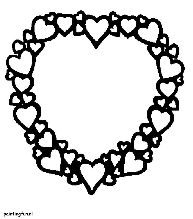valenijn en liefde hart met kleine hartjes