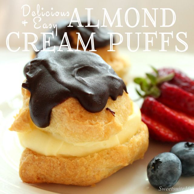 An easy and delicious dessert recipe almond cream puffs for Easy delicious christmas dessert recipes