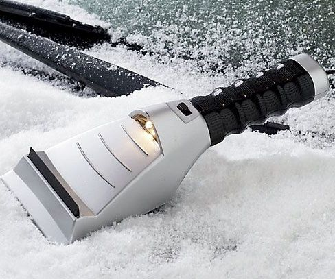 Make those bitter cold winter morning go a little bit smoother with the heated ice scraper. This handy appliance comes with a built in flashlight, squeegee,...