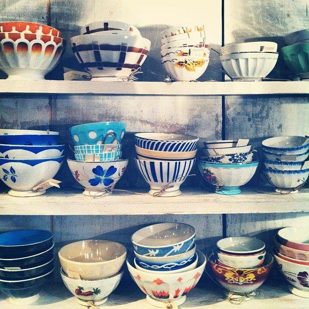 vintage French bowls #coxandcoxkitchen