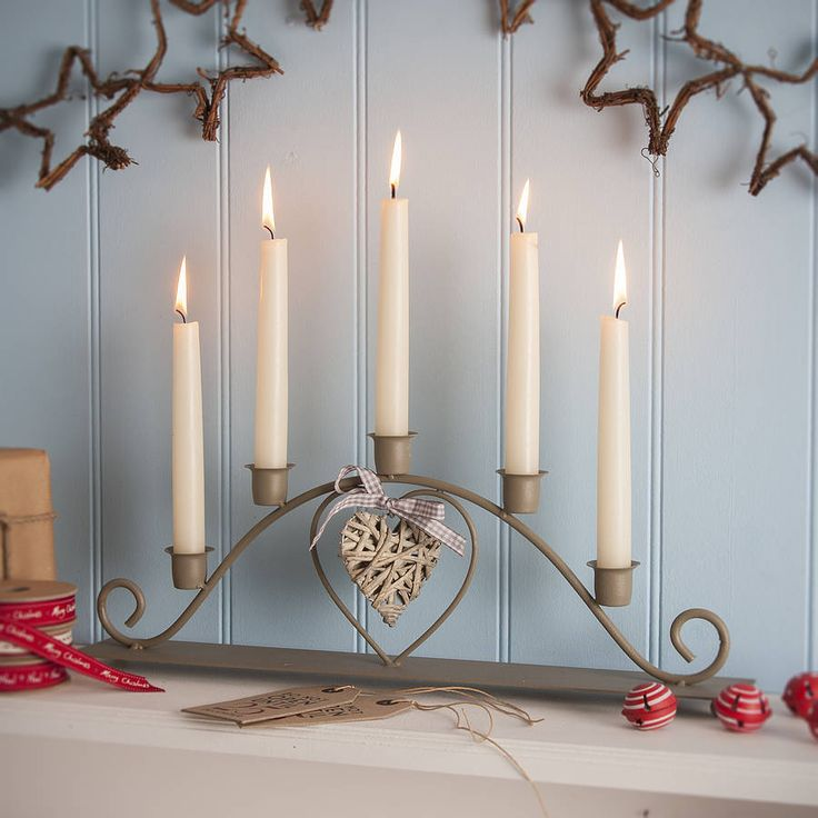 five candle candelabra by the contemporary home | notonthehighstreet.com