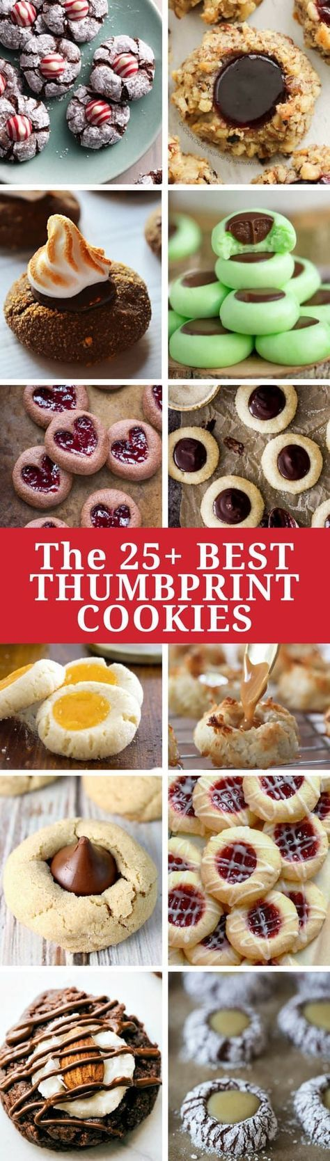 25+ Best Thumbprint Cookies ~ every holiday cookie assortment needs one or two (or three!) great thumbprint cookies, and we've gathered together the best of the best to share! www.savingdessert.com #savingroomfordessert #thumbprintcookies #christmascookies #holidaycookies #cookies