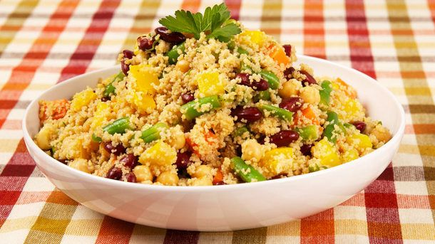 Couscous and Three-Bean Salad