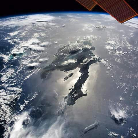 Haiti from space