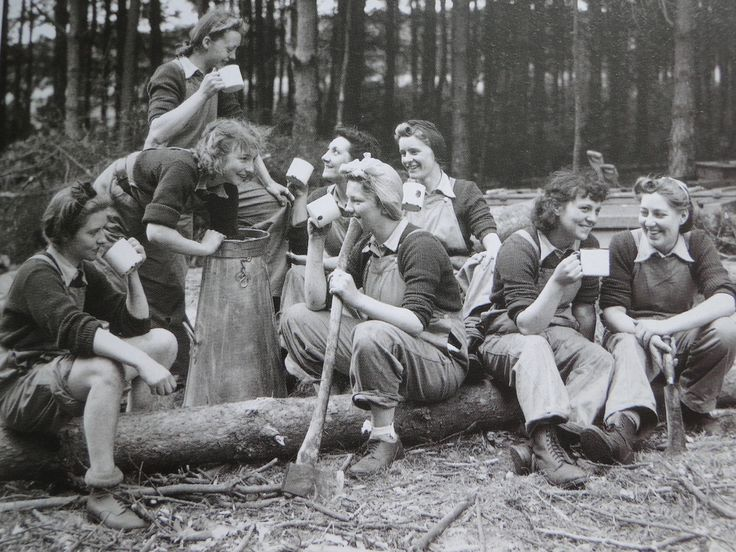 This post is dedicated to some often forgotten heroines of WW2 - The Women's Timber Corps, otherwise known as 'Lumberjills'. The Lumberjills were a unit of of The Women's Land Army along with The Land Girls, who are more often used as the iconic image of the Women's Home Front.