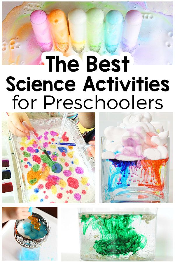 Fun science activities for preschool (and big kids too!). Make a fizzy rainbow, whip up a rainbow in a jar and more!