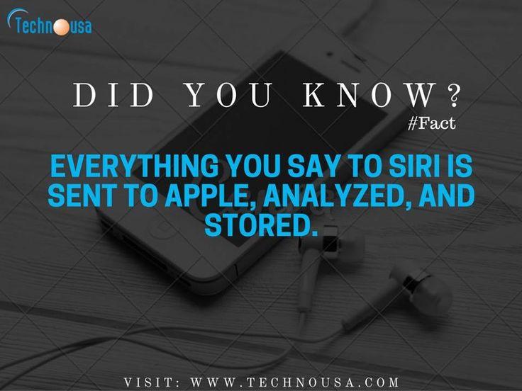 Apple, Siri - Facts