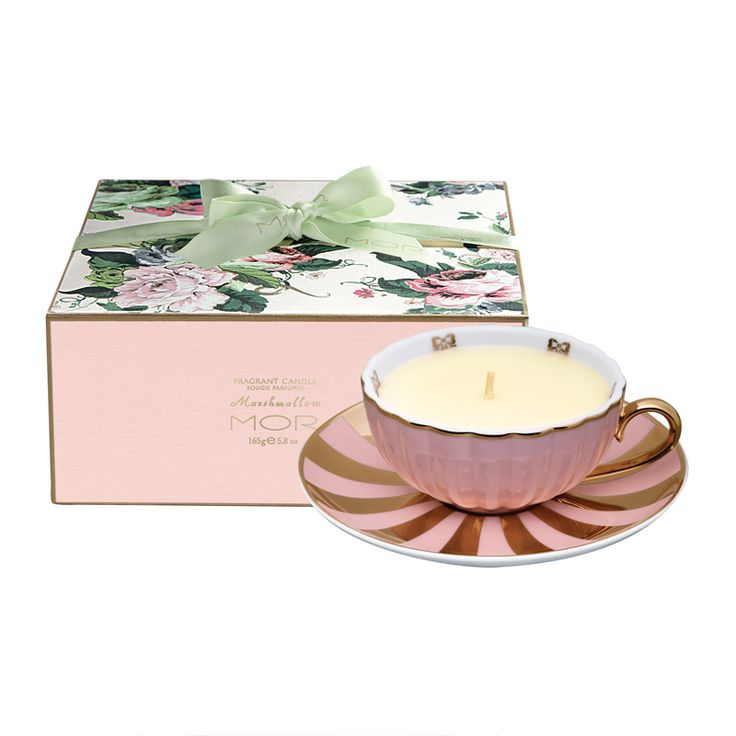 MOR - Marshmallow Fragrant Tea Cup Candle 165g