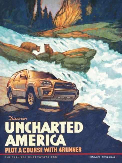 "Toyota 4Runner Advertisement - ""Discover Uncharted America""  charlesmaundtoyota.com"