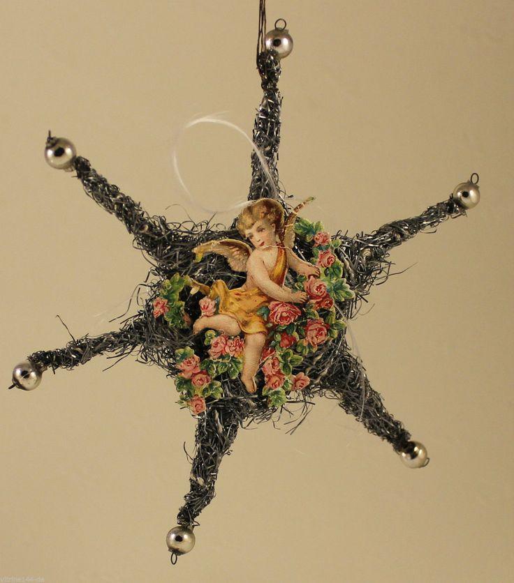 Christbaumschmuck Weihnachtsschmuck STERN aus Tinsel Engel Oblate Silberkugeln  in Sammeln & Seltenes, Saisonales & Feste, Weihnachten & Neujahr | eBay!
