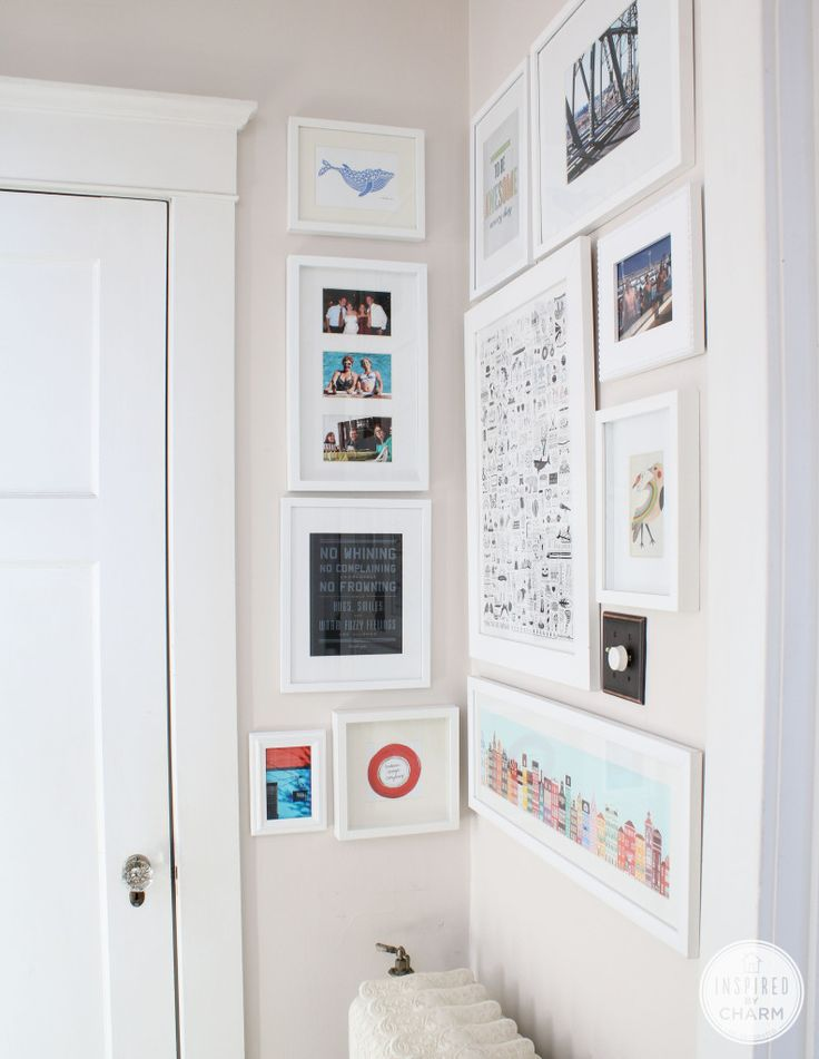 Gallery Wall - all white frames