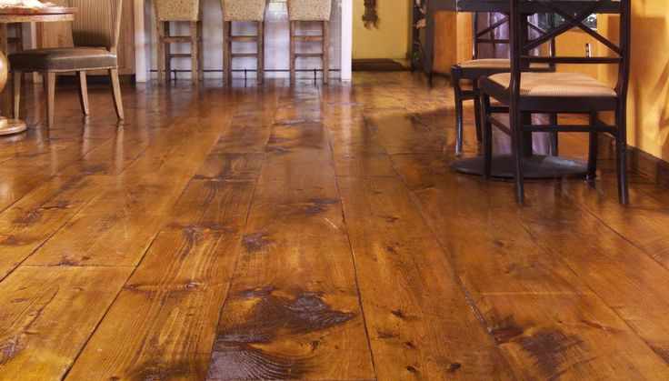 wide plank wood floors rustic 2