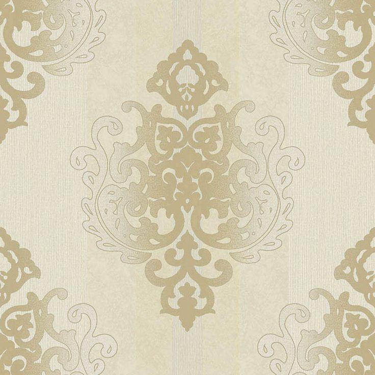 Tapete Casadeco Midnight : Rasch Tapete Deha 006425 Rasch Textil Vinyltapete Ornament creme beige